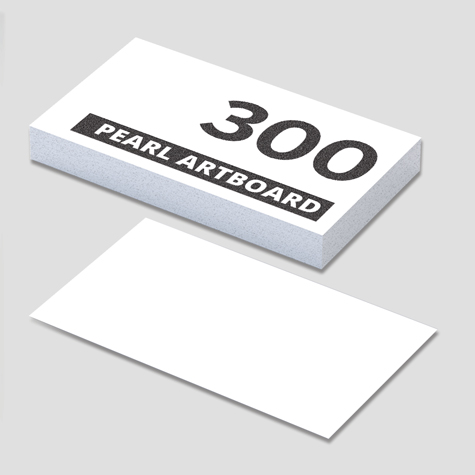 300gsm Silver Pearl Artboard Business Cards