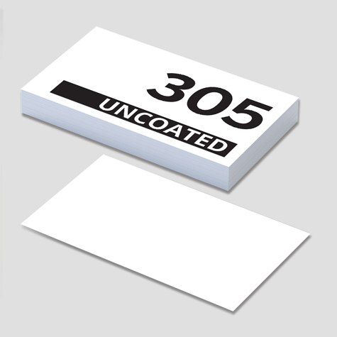 305gsm System Board High White Business Cards UNCOATED