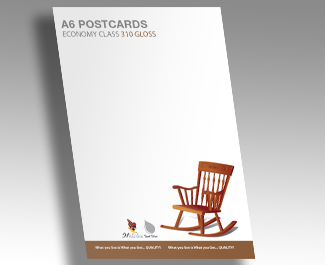 310gsm Gloss Cello One Side Postcards
