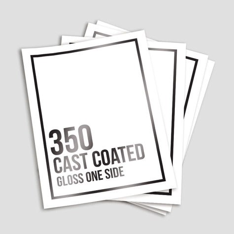 350gsm Cast Coated Artboard Gloss One Side