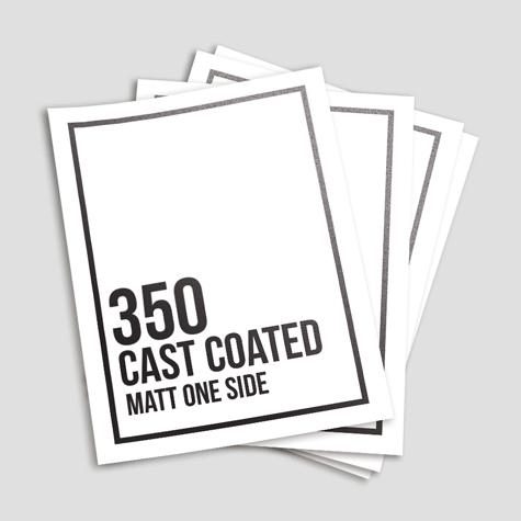 350gsm Cast Coated Artboard Matt One Side