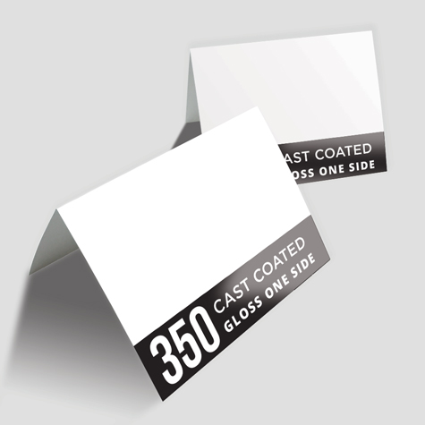 Greeting Cards 350gsm Cast Coated Artboard Gloss One Side