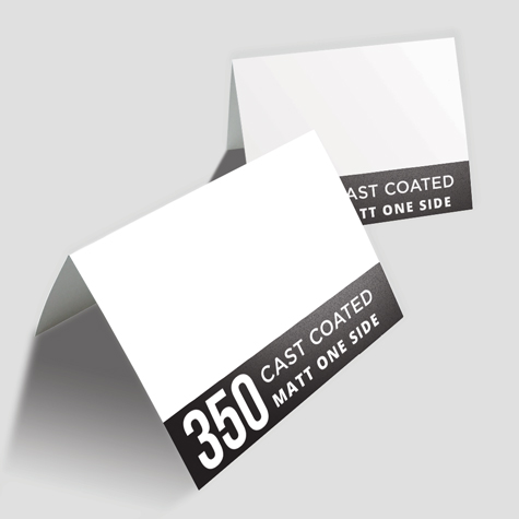Greeting Cards 350gsm Cast Coated Artboard Matt One Side