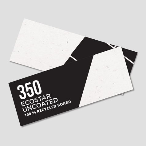 350gsm Ecostar Uncoated 100% Recycled Board Bookmarks