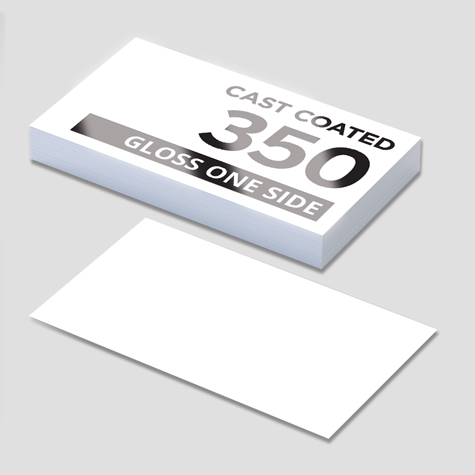 350gsm Cast Coated Card Gloss 1 Side Business Cards