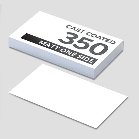 350gsm Cast Coated Artboard Matt 1 Side Business Cards