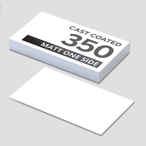 350gsm Cast Coated Artboard Matt 1 Side Business Cards