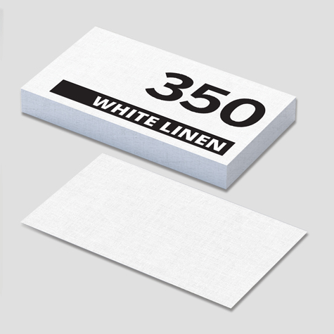 350gsm White Linen Textured Speciality Business Cards