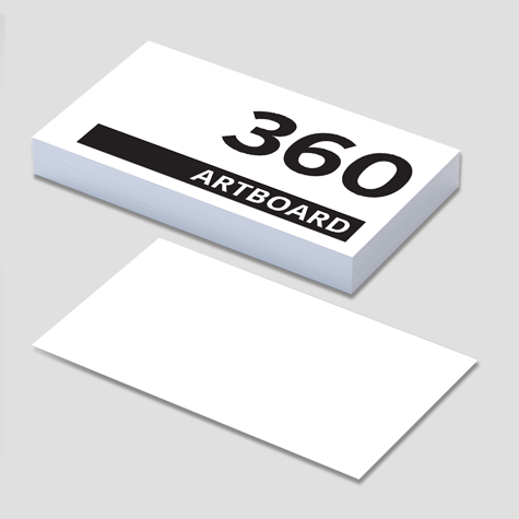 360gsm Uncoated Artboard Business Cards