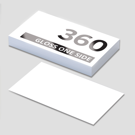 360gsm Gloss Cello One Side Business Cards