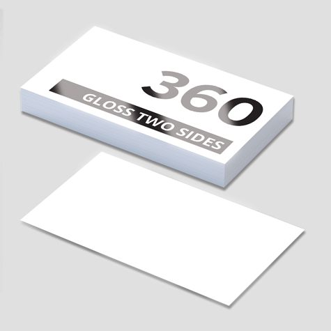 360gsm Gloss Cello Two Sides Business Cards