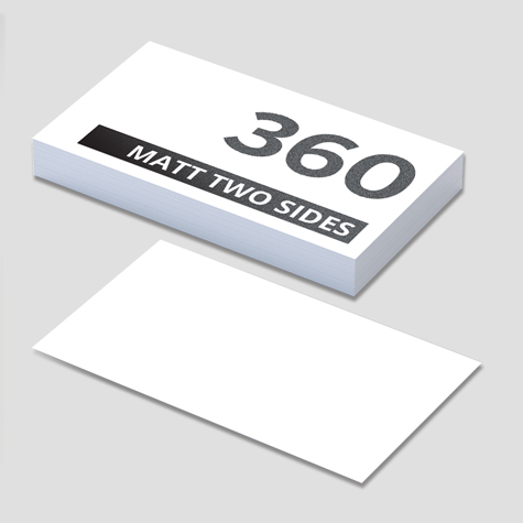 360gsm Matt Cello Both Sides Business Cards
