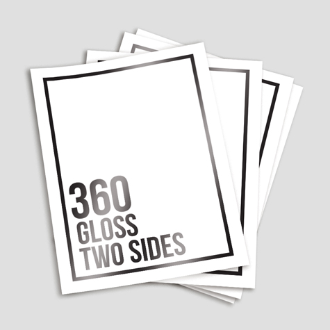 360gsm Gloss Cello Both Sides