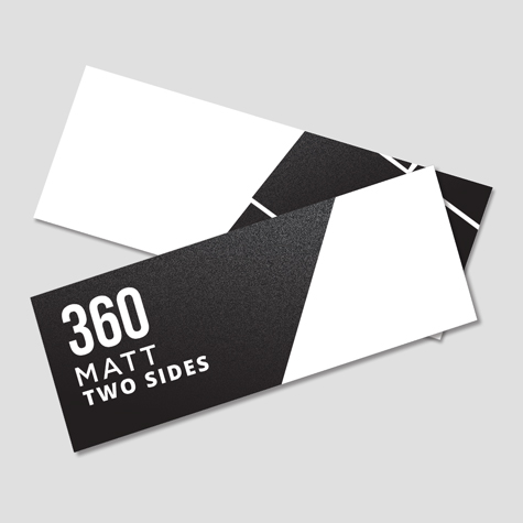 Bookmarks 360gsm Matt Cello Two Sides