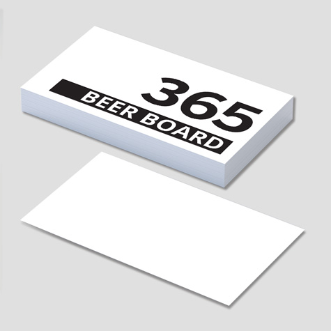 365gsm Beer Board Super Thick Business Cards