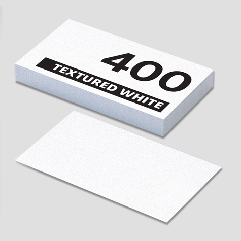 400gsm Conqueror Textured White Specialty Business Cards