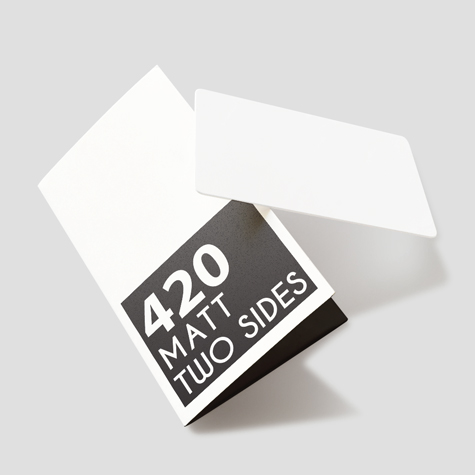 Multi-purpose card holders 420gsm Matt cello Two Sides