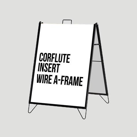 Corflute Insert Wire A-Frame Set Super Saver Sunshine Coast