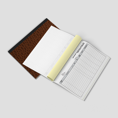 NCR Carbonless Books - Croc Cover Landscape - Bound Top