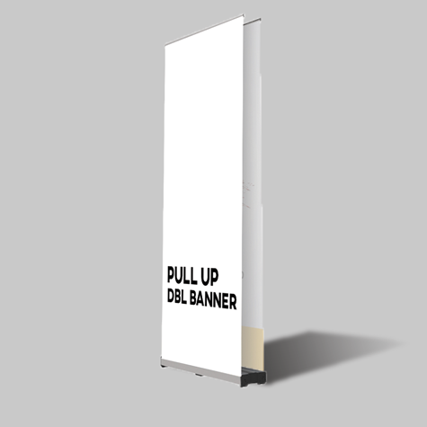 Double-Sided Pull Up Banners unique double base Sunshine Coast