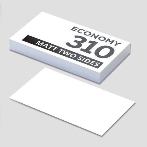 310gsm Matt Cello Two Sides Business Cards