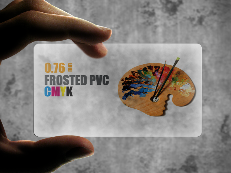Frosted Plastic PVC 0.76 Cards