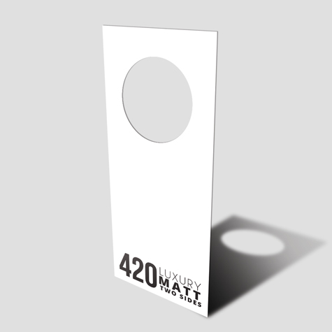 Door Hangers 420gsm  Matt Cello Two Sides