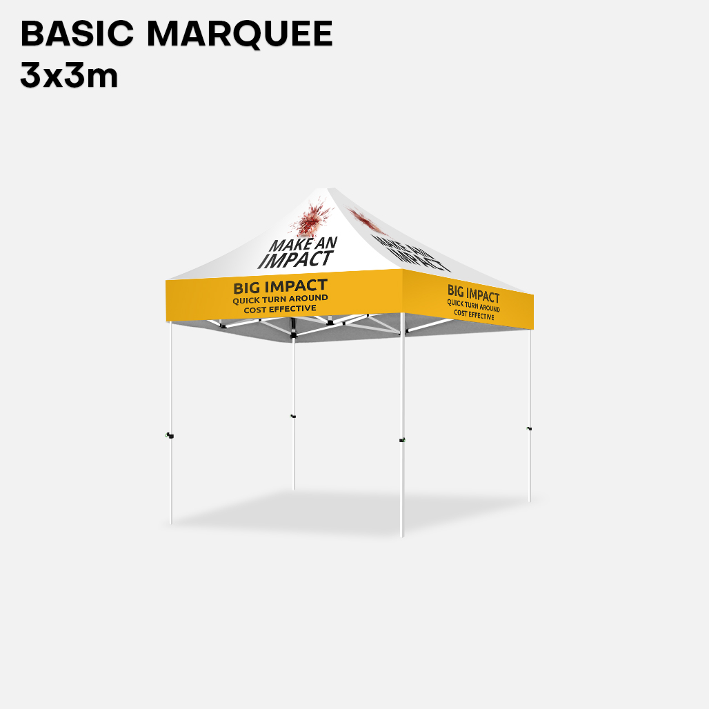 Marquee - 3m Steel Set full colour print super saver Sunshine Coast
