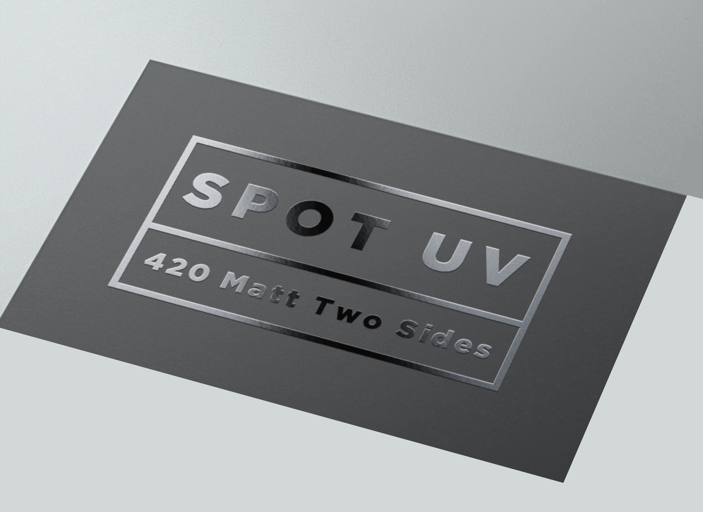 Business Cards 420gsm Artboard Matt Two Sides + Spot UV 1 side