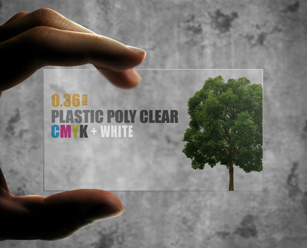 Plastic Poly Clear 0.36mm + Spot White