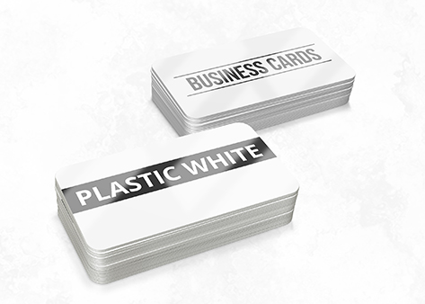 Plastic White - Non Tear and Waterproof Business Cards