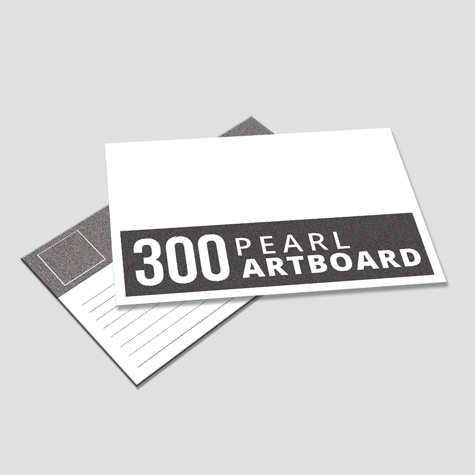 300gsm Silver Pearl Artboard Postcards