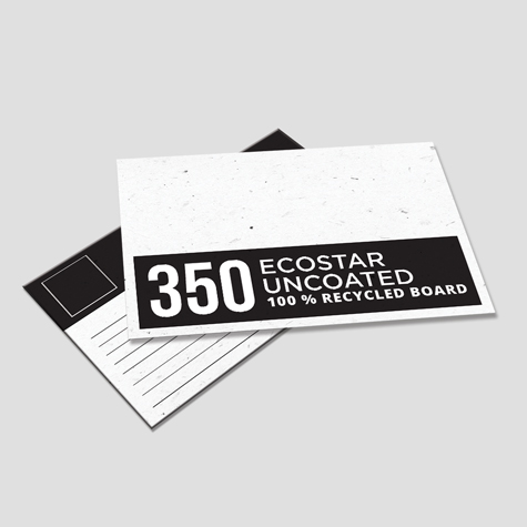350gsm EcoStar Uncoated 100% Recycled Postcards
