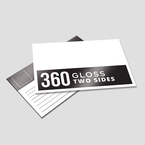 360gsm Gloss Cello Both Sides Postcard
