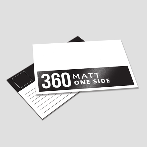 360gsm Matt Cello One Side Postcards