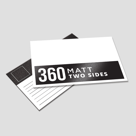 360gsm Matt Cello Two Sides Postcards