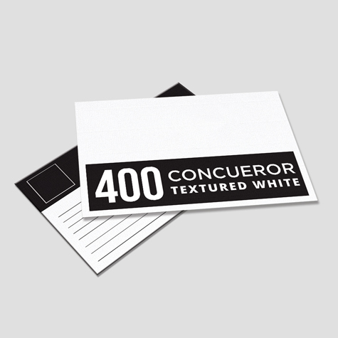 400gsm Conqueror Textured White Postcards