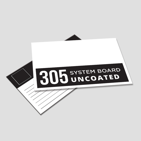 305gsm Uncoated Postcards High White Systems Board