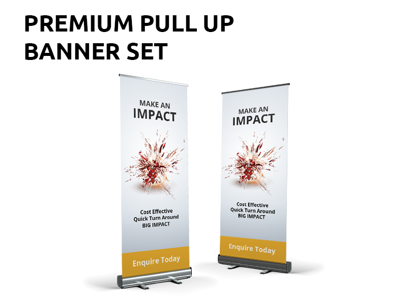 Premium Pull up or Retractable Banners Sunshine Coast