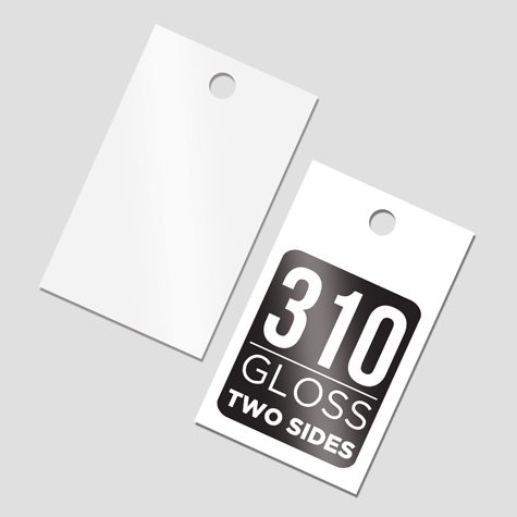 Swing Tags 310gsm Gloss Cello Two Sides