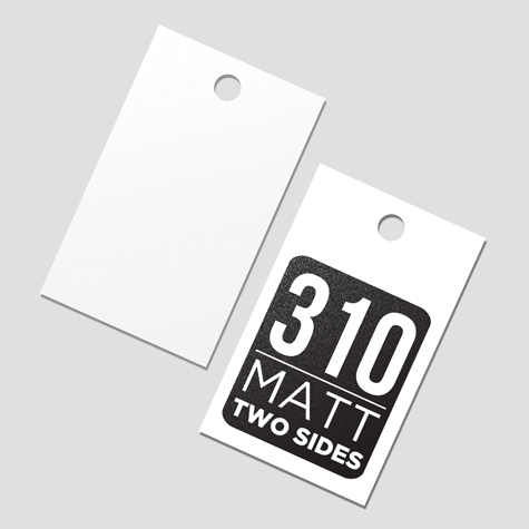 Swing Tags 310gsm Matt Cello Two Sides
