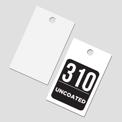 Swing Tags or Retail Price Tags printed on 310gsm Uncoated Card