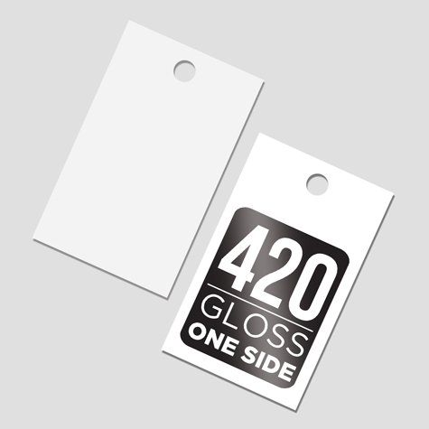 Swing Tags with Gloss cello one side