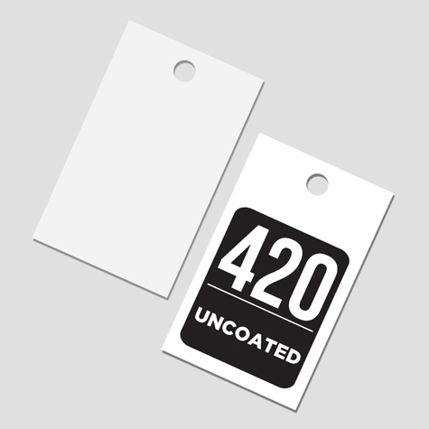 Swing Tags Luxury 420gsm Uncoated Card