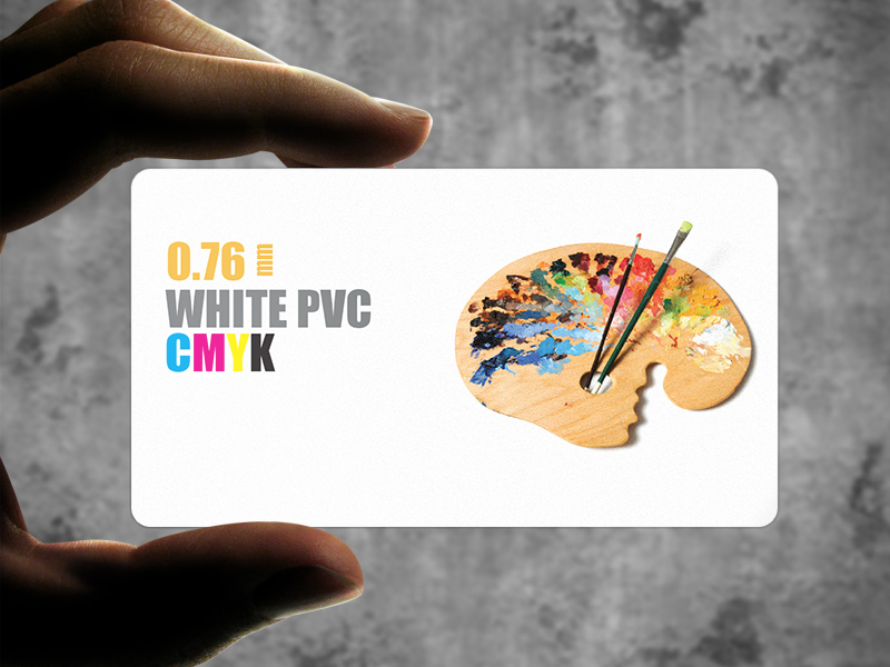 ID Cards, Loyalty Cards, Employee Cards, Membership cards printed on PVC 0.76 - White