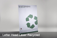 100% recycled letterhead 100gsm Ecostar