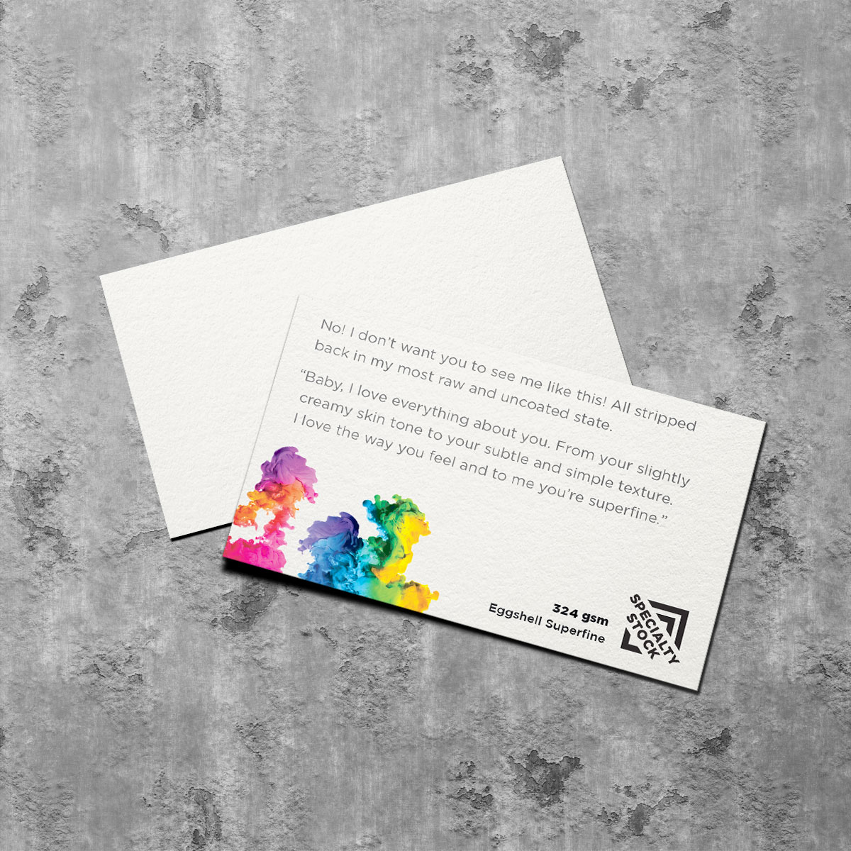 324gsm Eggshell Superfine specialty business card