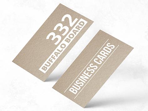 332gsm Buffalo Kraft Board Business Cards