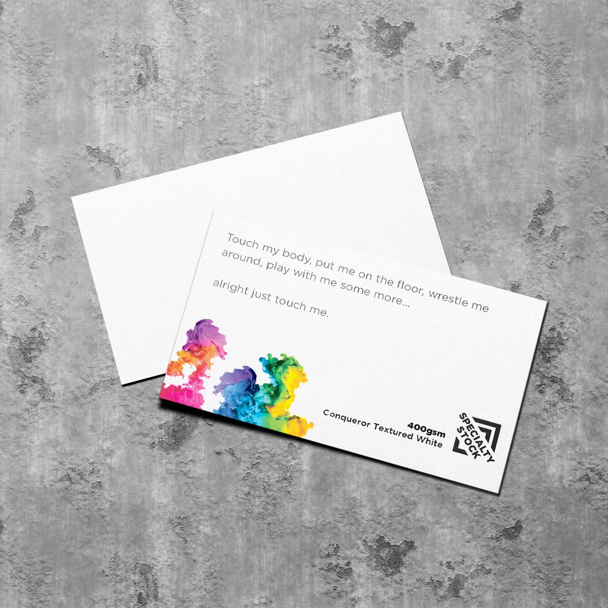 400gsm textured Business Card Conqueror
