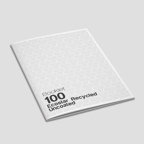 Booklets 100gsm Uncoated Ecostar 100% recycled Saddle Stapled Sunshine Coast